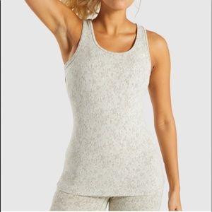 Gymshark fleur texture vest washed kahki marl
